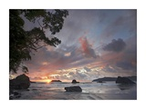 Beach and coastline, Manuel Antonio National Park, Costa Rica Posters by Tim Fitzharris