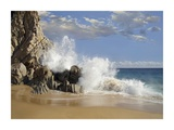 Lover's Beach with crashing waves, Cabo San Lucas, Mexico Posters by Tim Fitzharris