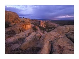 Rocky outcroppings in El Malpais National Monument, New Mexico Prints by Tim Fitzharris