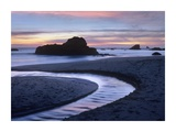 Creek flowing into ocean at Harris Beach State Park, Oregon Art by Tim Fitzharris