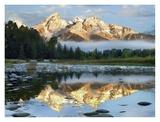 Pond reflecting Grand Tetons, Grand Teton National Park, Wyoming Kunst av Tim Fitzharris