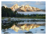 Pond reflecting Grand Tetons, Grand Teton National Park, Wyoming Art by Tim Fitzharris