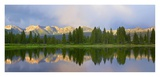 Panorama of West Needle Mountains, Weminuche Wilderness, Colorado Poster by Tim Fitzharris
