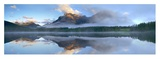 Panoramic view of Mt Kidd as seen from Wedge Pond, Alberta, Canada Prints by Tim Fitzharris