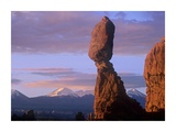 La Sal Mountains and Balanced Rock, Arches National Park, Utah Prints by Tim Fitzharris