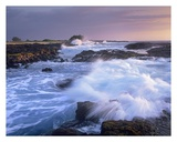 Waves crashing on rocky shore, Wawaloli Beach, Big Island, Hawaii Prints by Tim Fitzharris