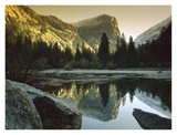 Mt Watkins reflected in Mirror Lake, Yosemite National Park, California Posters by Tim Fitzharris