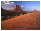 Sand dunes and the Mittens, Monument Valley Navajo Tribal Park, Arizona Prints by Tim Fitzharris