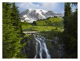 Myrtle Falls and Mount Rainier, Mount Rainier National Park, Washington Prints by Tim Fitzharris