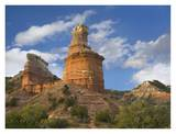 Rock formation called the Lighthouse, Palo Duro Canyon State Park, Texas Poster by Tim Fitzharris