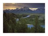 Teton Range at Snake River Overlook, Grand Teton National Park, Wyoming Art by Tim Fitzharris