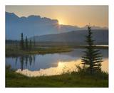 Sunset over Miette Range and Talbot Lake, Jasper National Park, Alberta, Canada Posters by Tim Fitzharris