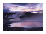Steaming hot springs, Midway Geyser Basin, Yellowstone National Park, Wyoming Print by Tim Fitzharris