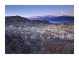 Full moon rising over Zabriskie Point, Death Valley National Park, California Print by Tim Fitzharris