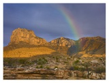 Rainbow near El Capitan, Guadalupe Mountains National Park, Texas Posters by Tim Fitzharris