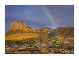 Rainbow near El Capitan, Guadalupe Mountains National Park, Texas Prints by Tim Fitzharris