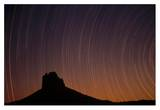 Startrails over Shiprock in the four corners region of the Southwest, New Mexico Posters by Tim Fitzharris