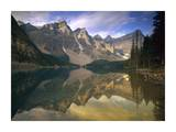 Wenkchemna peaks and moraine lake, Banff National Park, Alberta, Canada Posters by Tim Fitzharris