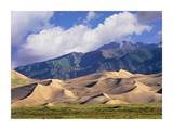 Sand dunes with Sangre de Cristo Mountains, Great Sand Dunes National Park, Colorado Posters by Tim Fitzharris