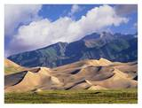Sand dunes with Sangre de Cristo Mountains, Great Sand Dunes National Park, Colorado Prints by Tim Fitzharris