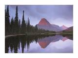Mount Sinopah reflected in Two Medicine Lake, Glacier National Park, Montana Prints by Tim Fitzharris