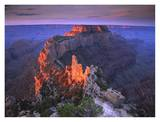 Wotans Throne at sunrise from Cape Royal, Grand Canyon National Park, Arizona Poster by Tim Fitzharris