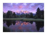 Teton Range at sunrise, Schwabacher Landing, Grand Teton National Park, Wyoming Plakater af Tim Fitzharris