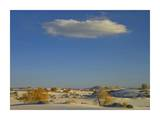 Cloud over White Sands National Monument, Chihuahuan Desert, New Mexico Print by Tim Fitzharris