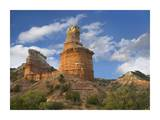 Rock formation called the Lighthouse, Palo Duro Canyon State Park, Texas Prints by Tim Fitzharris