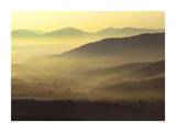 Appalachian Mountains from Doughton Park, Blue Ridge Parkway, North Carolina Affiches par Tim Fitzharris