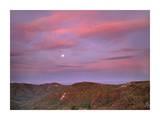Moon over Blue Ridge Range and Lost Cove Cliffs, Blue Ridge Parkway, North Carolina Art by Tim Fitzharris