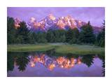 Grand Tetons at Schwabacher Landing, Grand Teton NP, Wyoming Poster by Tim Fitzharris