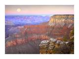 Full moon over the Grand Canyon at sunset, Grand Canyon National Park, Arizona Posters by Tim Fitzharris