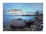 Rocky shoreline along Hidden Beach, Lake Tahoe, Nevada Prints by Tim Fitzharris