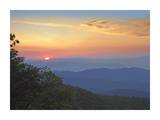 Sunset over the Pisgah National Forest from the Blue Ridge Parkway, North Carolina Art by Tim Fitzharris