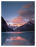 Alpenglow, Lake Louise and Victoria Glacier, Banff National Park, Alberta, Canada Poster by Tim Fitzharris