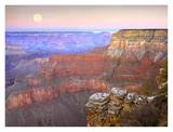 Full moon over the Grand Canyon at sunset, Grand Canyon National Park, Arizona Prints by Tim Fitzharris