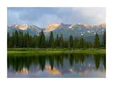 West Needle Mountains reflected in Molas Lake, Weminuche Wilderness, Colorado Posters by Tim Fitzharris