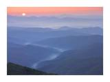 Sunset over the Pisgah National Forest from the Blue Ridge Parkway, North Carolina Prints by Tim Fitzharris