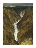Lower Yellowstone Falls and Grand Canyon of Yellowstone NP, Wyoming Print by Tim Fitzharris