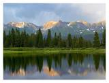 West Needle Mountains reflected in Molas Lake, Weminuche Wilderness, Colorado Prints by Tim Fitzharris