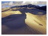 Rippled Sand Dunes with Sangre de Cristo Mountains, Great Sand Dunes National Park, Colorado Print by Tim Fitzharris