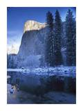 El Capitan and Merced River in winter, Yosemite National Park, California Posters by Tim Fitzharris