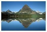 Sinopah Mountain reflected in Two Medicine Lake, Glacier NP, Montana Posters by Tim Fitzharris