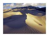 Rippled Sand Dunes with Sangre de Cristo Mountains, Great Sand Dunes National Park, Colorado Prints by Tim Fitzharris