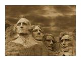 Mount Rushmore National Monument, South Dakota - Sepia Prints by Tim Fitzharris