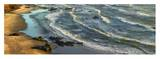 Panoramic view of incoming waves at Bandon Beach, Oregon Posters by Tim Fitzharris