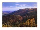 Blue Ridge Mountain Range near Cumberland Knob, North Carolina Posters by Tim Fitzharris