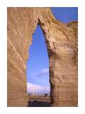 Arch in Monument Rocks National Landmark, Kansas Posters by Tim Fitzharris