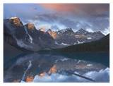 Wenkchemna Peaks reflected in Moraine Lake, Valley of Ten Peaks, Banff, Canada Print by Tim Fitzharris